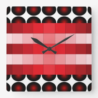 Red Wine 3D Color Design Wall Clock 4