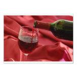 "Red Wine 5"" X 7"" Invitation Card"