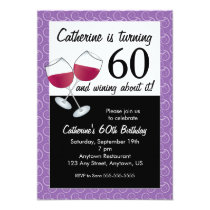 Red Wine, 60th Birthday Party Invitation