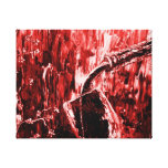 Red Wine Abstract Wall Art Canvas Print