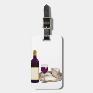 RED WINE  AND  CHEESE, CHEESE LOVERS GIFT BAG TAG