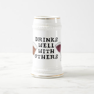 Red Wine and Liquor Funny Drinkers Stein