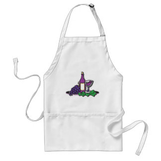 Red Wine and Purple Grapes Adult Apron