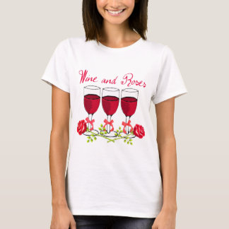 RED WINE AND ROSES PRINT T-Shirt