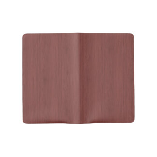 Red Wine Bamboo Look Wood Grain Large Moleskine Notebook Cover With Notebook