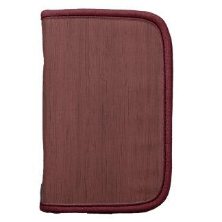 Red Wine Bamboo Look Wood Grain Planner
