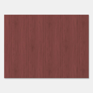 Red Wine Bamboo Look Wood Grain Sign