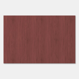 Red Wine Bamboo Look Wood Grain Lawn Sign