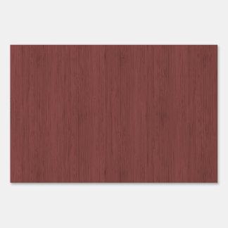 Red Wine Bamboo Look Wood Grain Yard Sign
