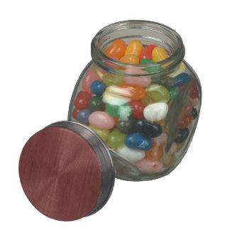 Red Wine Bamboo Wood Grain Look Glass Candy Jars