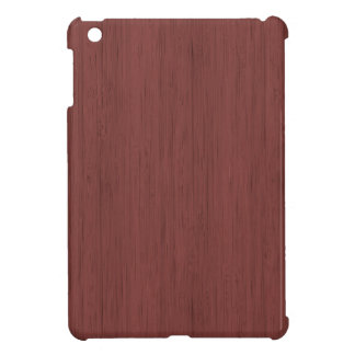 Red Wine Bamboo Wood Grain Look iPad Mini Case