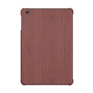 Red Wine Bamboo Wood Grain Look iPad Mini Cover