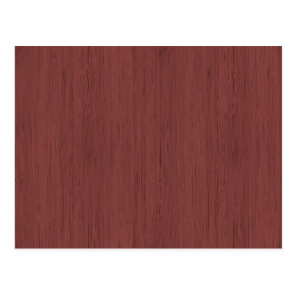 Red Wine Bamboo Wood Grain Look Postcard