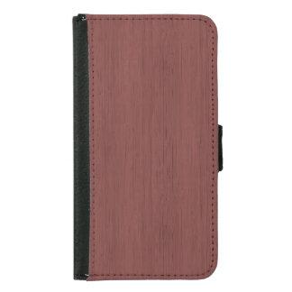 Red Wine Bamboo Wood Grain Look Samsung Galaxy S5 Wallet Case