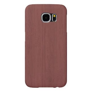Red Wine Bamboo Wood Grain Look Samsung Galaxy S6 Case