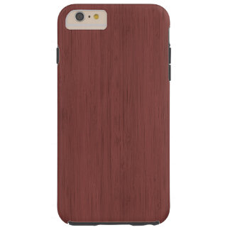 Red Wine Bamboo Wood Grain Look Tough iPhone 6 Plus Case