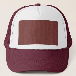 Red Wine Bamboo Wood Grain Look Trucker Hat