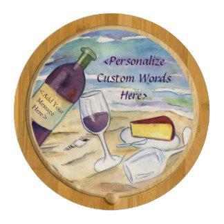 Red Wine Beach Party Custom Cheese Board