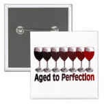 Red Wine Birthday 2 Inch Square Button