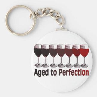 Red Wine Birthday Basic Round Button Keychain