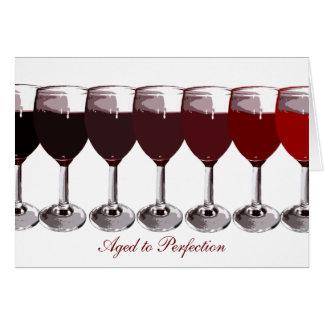 Red Wine Birthday Invite Cards