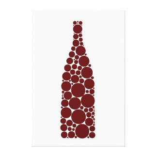 Red Wine Bottle Canvas Print