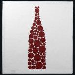 "Red Wine Bottle Cloth Napkin<br><div class=""desc"">Wine art by Frank Tschakert</div>"