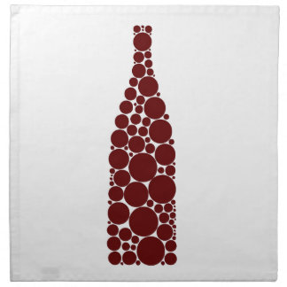 Red Wine Bottle Cloth Napkin