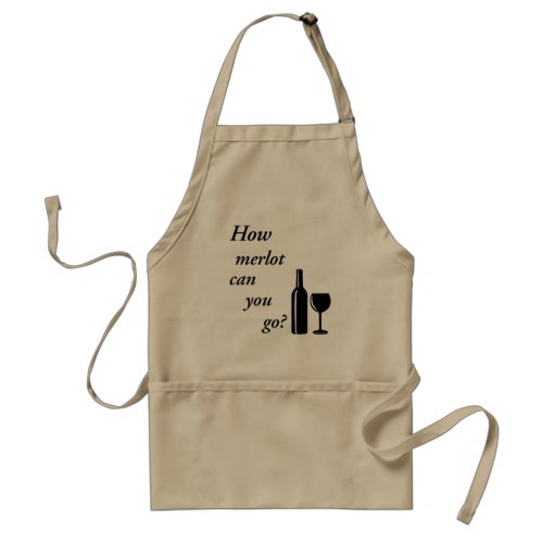 Red Wine Bottle Custom Party Kitchen Adult Apron