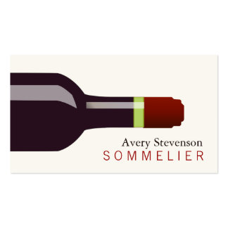 Red Wine Bottle Sommelier Business Card
