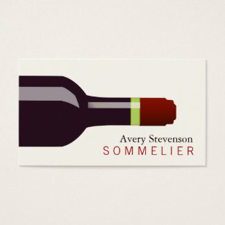 Red Wine Bottle Sommelier Business Card