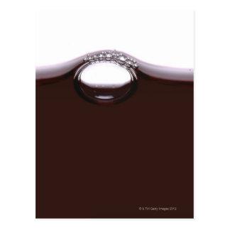 Red Wine Bubbles Postcard