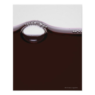 Red Wine Bubbles Poster