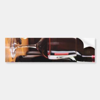 Red Wine Bumper Sticker