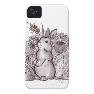 Red Wine Bunny for iPhone 4 iPhone 4 Case-Mate Case