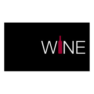 Red Wine Business Simple Card