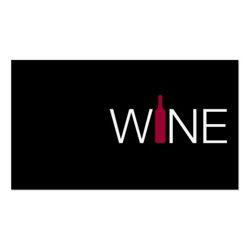 Red Wine Business Simple Card Business Cards