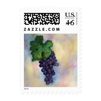 Red Wine Cabernet Sauvignon Grapes Postage Stamps