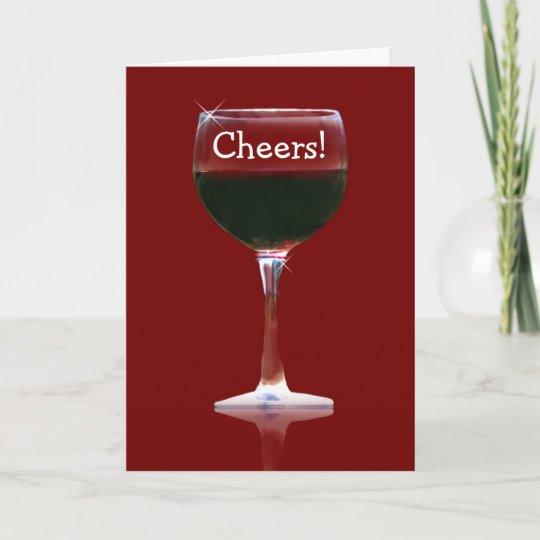 red wine cheers happy birthday card zazzle com