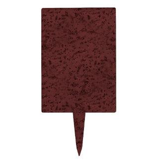 Red Wine Cork Look Wood Grain Cake Topper