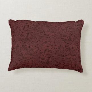 Red Wine Cork Look Wood Grain Decorative Pillow