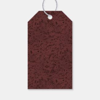 Red Wine Cork Look Wood Grain Pack Of Gift Tags
