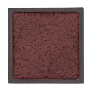 Red Wine Cork Look Wood Grain Keepsake Box