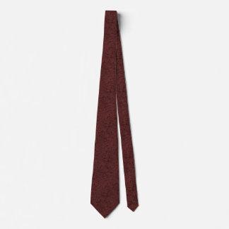 Red Wine Cork Look Wood Grain Neck Tie
