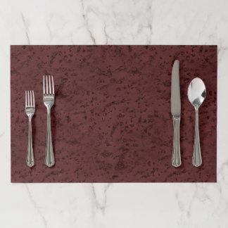 Red Wine Cork Look Wood Grain Paper Placemat