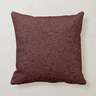 Red Wine Cork Look Wood Grain Throw Pillow