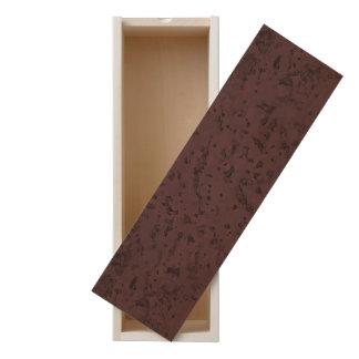 Red Wine Cork Look Wood Grain Wooden Keepsake Box