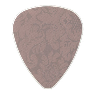 Red Wine Damask Weave Look Polycarbonate Guitar Pick
