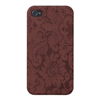Red Wine Damask Weave Look iPhone 4/4S Cover