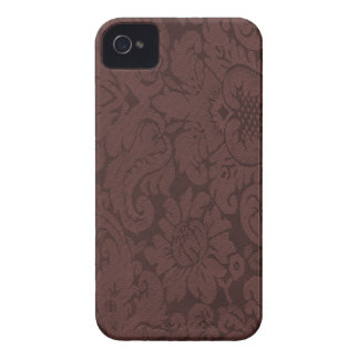 Red Wine Damask Weave Look iPhone 4 Case-Mate Case